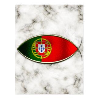 Ichthus - Portugese Flag Postcard