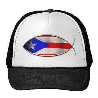 Ichthus - Puerto Rican Flag Mesh Hat