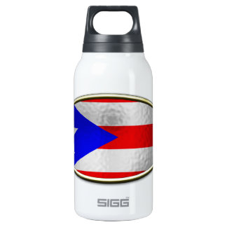 Ichthus - Puerto Rican Flag Insulated Water Bottle