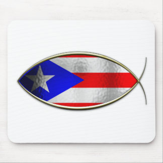 Ichthus - Puerto Rican Flag Mouse Pad
