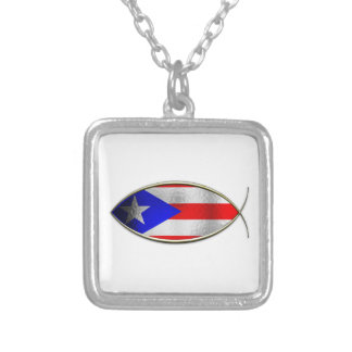 Ichthus - Puerto Rican Flag Pendant