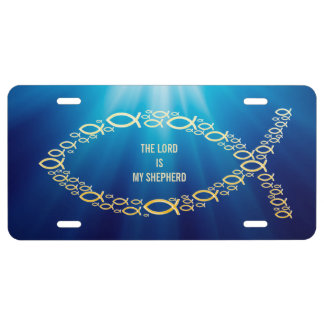 Ichthus | Sentence THE LORD IS MY SHEPHERD License Plate
