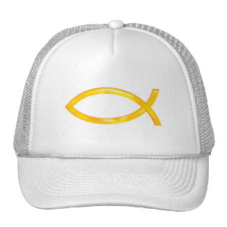 Ichthus - símbolo cristiano de los pescados gorros