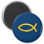 Ichthus - símbolo cristiano de los pescados iman de nevera