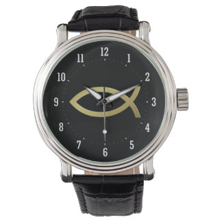 Ichthus - símbolo cristiano de los pescados - relojes de pulsera