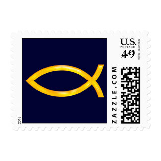 Ichthus - símbolo cristiano de los pescados - sellos