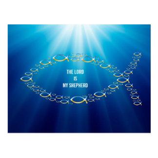 Ichthus - símbolo cristiano de los pescados - postales