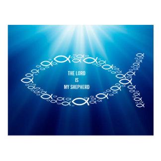 Ichthus - símbolo cristiano de los pescados - tarjetas postales