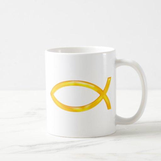 Ichthus - símbolo cristiano de los pescados tazas