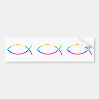 Ichthus - símbolos cristianos de los pescados pegatina para auto