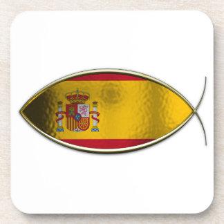 Ichthus - Spanish Flag Drink Coasters