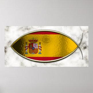 Ichthus - Spanish Flag Poster