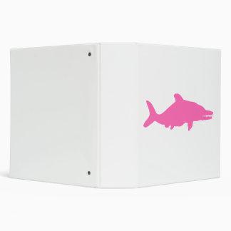 Ichthyosaurus Silhouette (Pink) Vinyl Binder