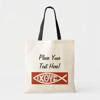 Ichthys (Christian Fish Symbol) Budget Tote Bag