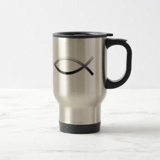 Ichthys Jesus Fish Christiam Symbol Travel Mug