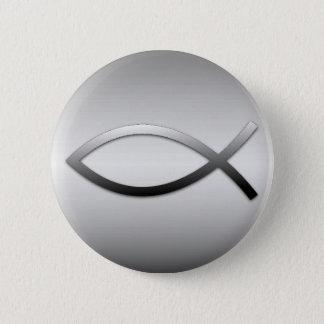 Ichthys Jesus Fish Christian Symbol Pinback Button