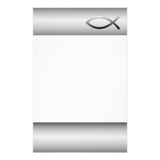 Ichthys Jesus Fish Christian Symbol Stationery