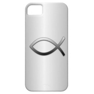 Ichthys Jesus Fish on Silver Flare Christian iPhone SE/5/5s Case