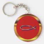 Ichthys Red-Gold Keychain