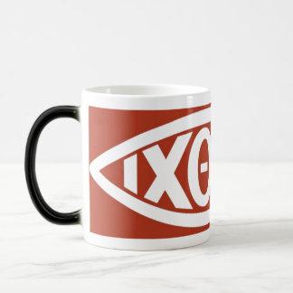 Ichthys (símbolo cristiano de los pescados) taza de café