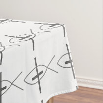 Ichthyses and Crosses Tablecloth
