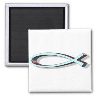ICHTUS 3D Turquoise Magnet
