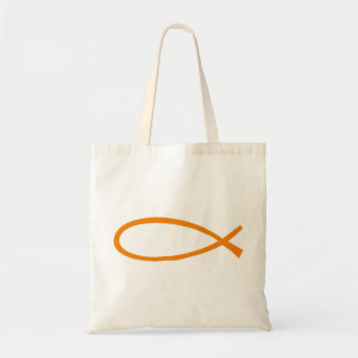 ICHTUS orange fond blanc Tote Bag
