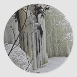 Icicle Falls Round Sticker