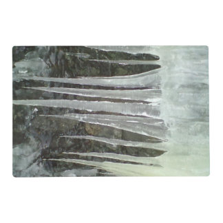 icicle laminated placemat