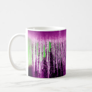 Icicle once differently, i.e. pink and green coffee mug