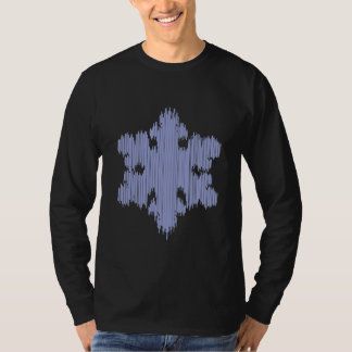 Icicle Snowflake - Men's Long Sleeve (black) T-Shirt