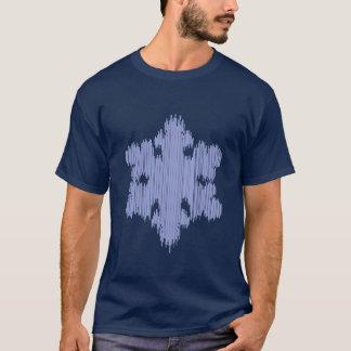 Icicle Snowflake - Men's Short Sleeve (black) T-Shirt