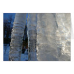 Icicles Abstract Blue Winter Nature Photography Card
