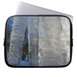 Icicles Abstract Blue Winter Nature Photography Laptop Sleeve