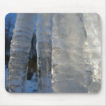 Icicles Abstract Blue Winter Nature Photography Mouse Pad