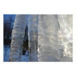 Icicles Abstract Blue Winter Nature Photography Photo Print