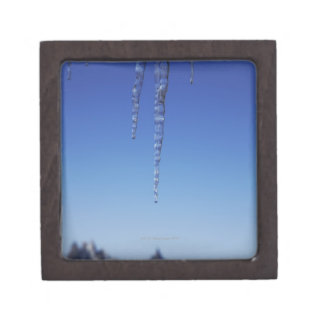 Icicles and snow-covered mountains keepsake box