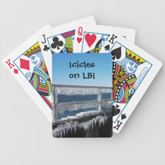 Icicles Bicycle Playing Cards