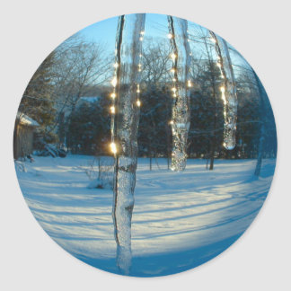 Icicles Classic Round Sticker