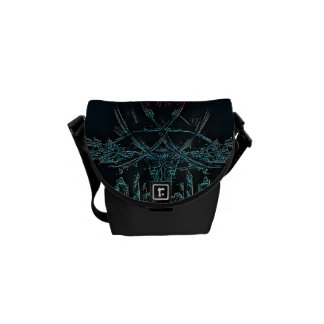 Icicles Fractal Messenger Bag