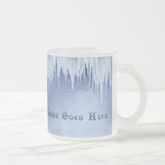 Icicles Frosted Glass Coffee Mug