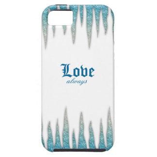 Icicles IPhone Cover Blue Glitter iPhone 5 Case