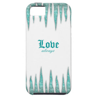 Icicles IPhone Cover Teal Green Glitter iPhone 5 Cases