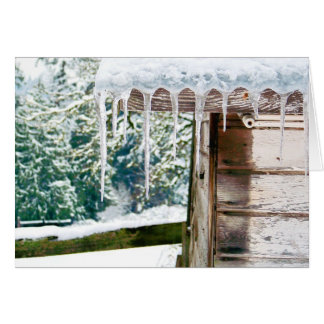 Icicles on the Barn Card