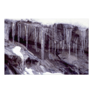 Icicles On The Rocks Photograph