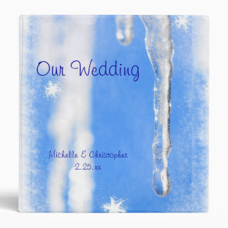 Icicles Personalized Wedding Album 3 Ring Binders