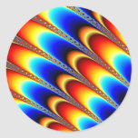Icing - Fractal Art Classic Round Sticker