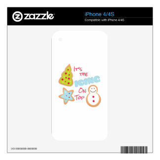 Icing On Top iPhone 4S Decal