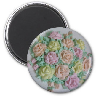 Icing Roses 2 Inch Round Magnet