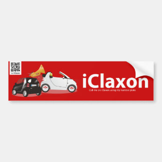 iClaxon Logo on Red Car Bumper Sticker